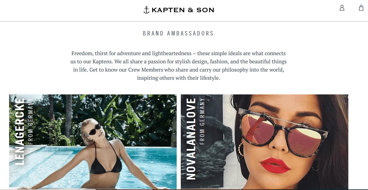 Kaptan & Son fashion influencer marketing