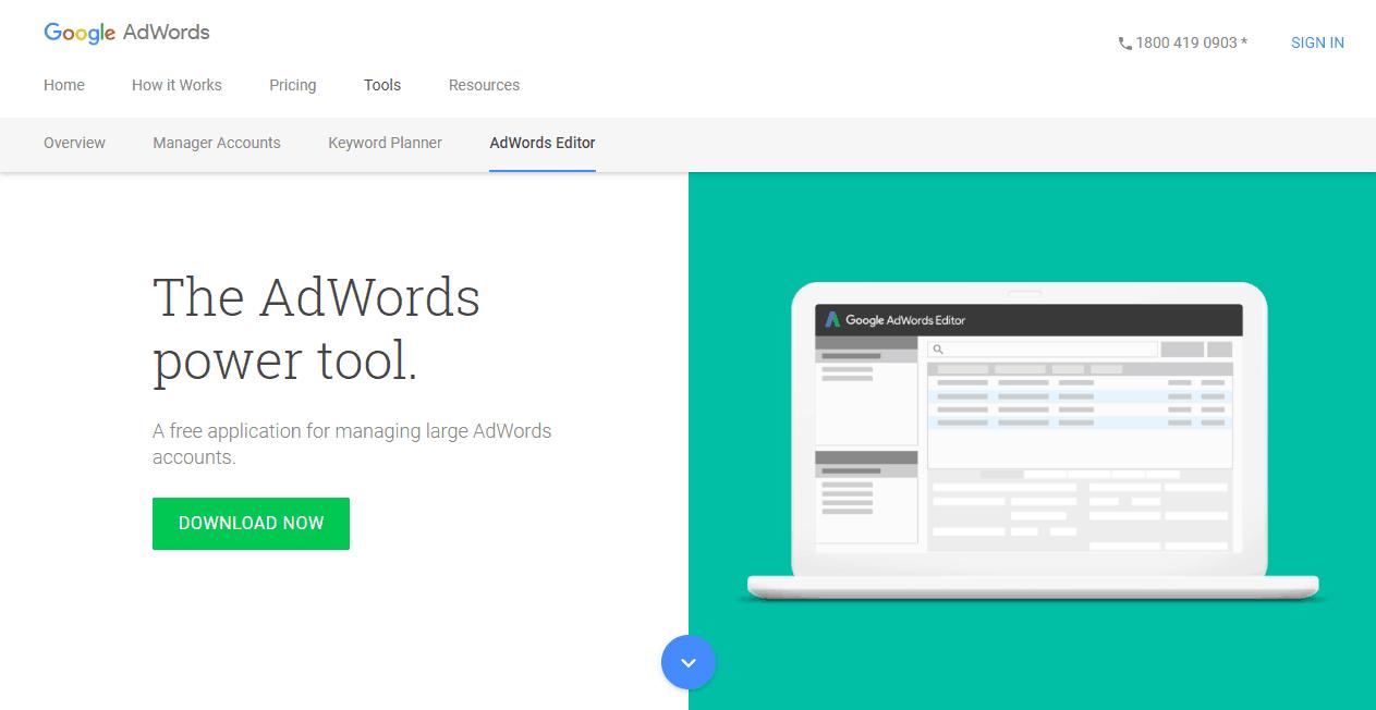 AdWords Editor PPC Tools