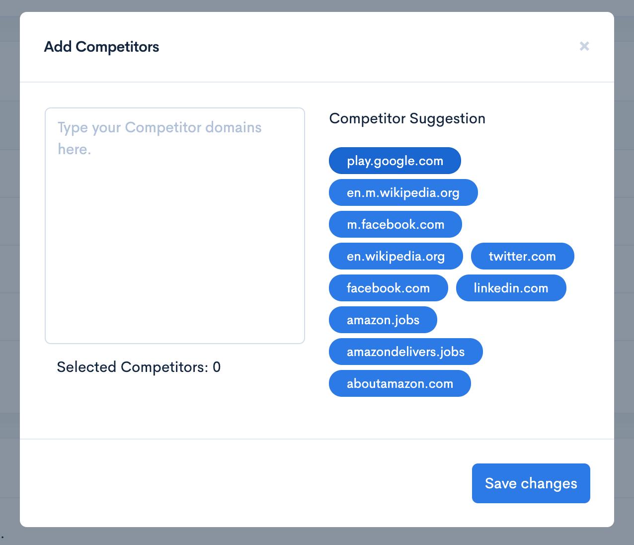 Zutrix Add Competitors