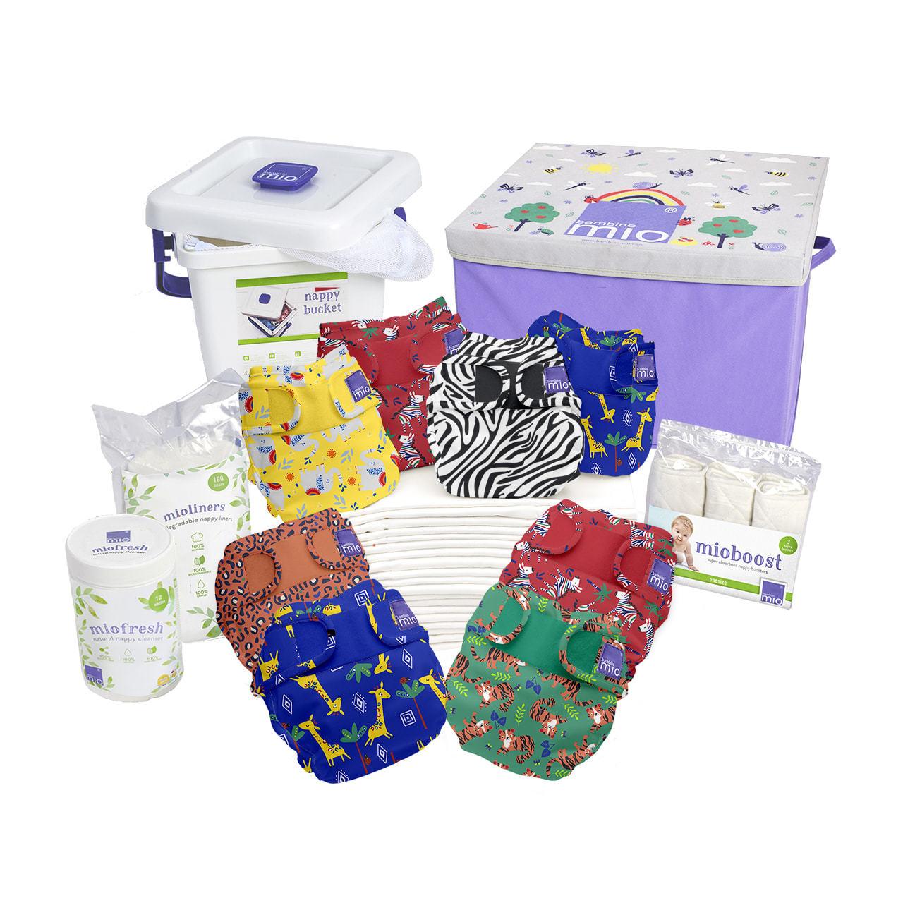 pack couches lavables safari bambinomio