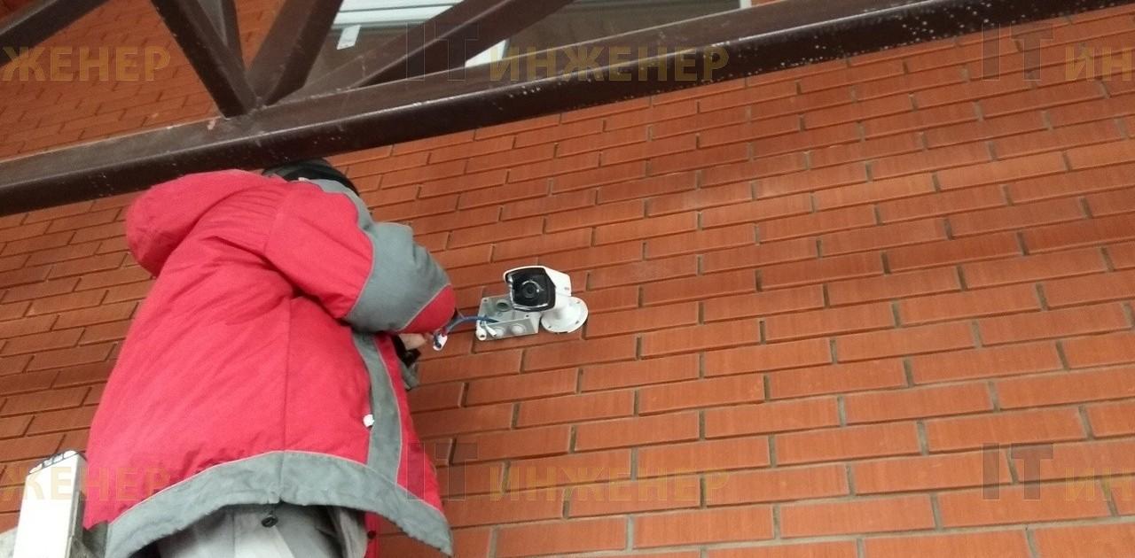 Устанавливаем камеру на фасад частного дома