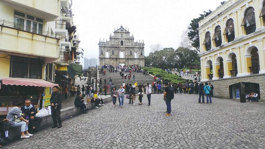 Ruins of St Pauls in Macau