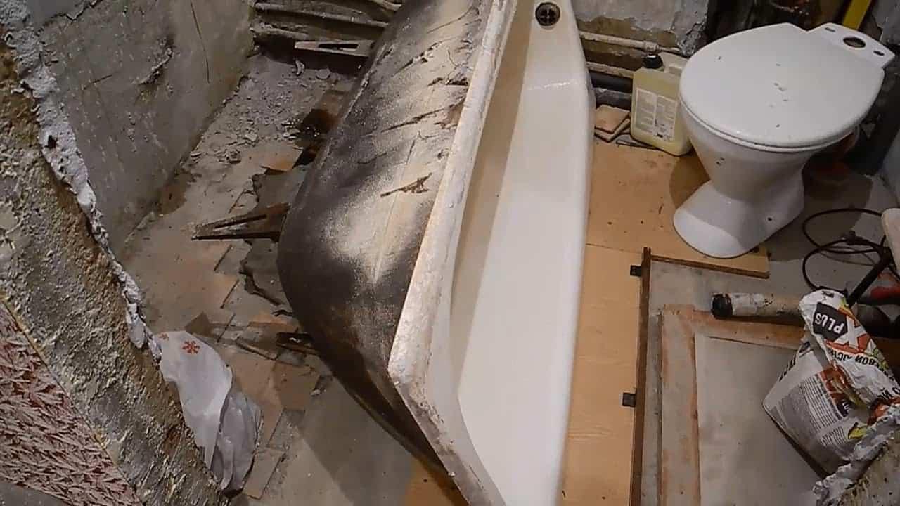 стальная ванна ремонт