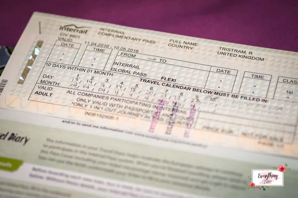 Interrail Ticket Flexi Global Pass