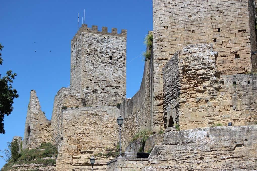 Enna Castle in Sicily Italy