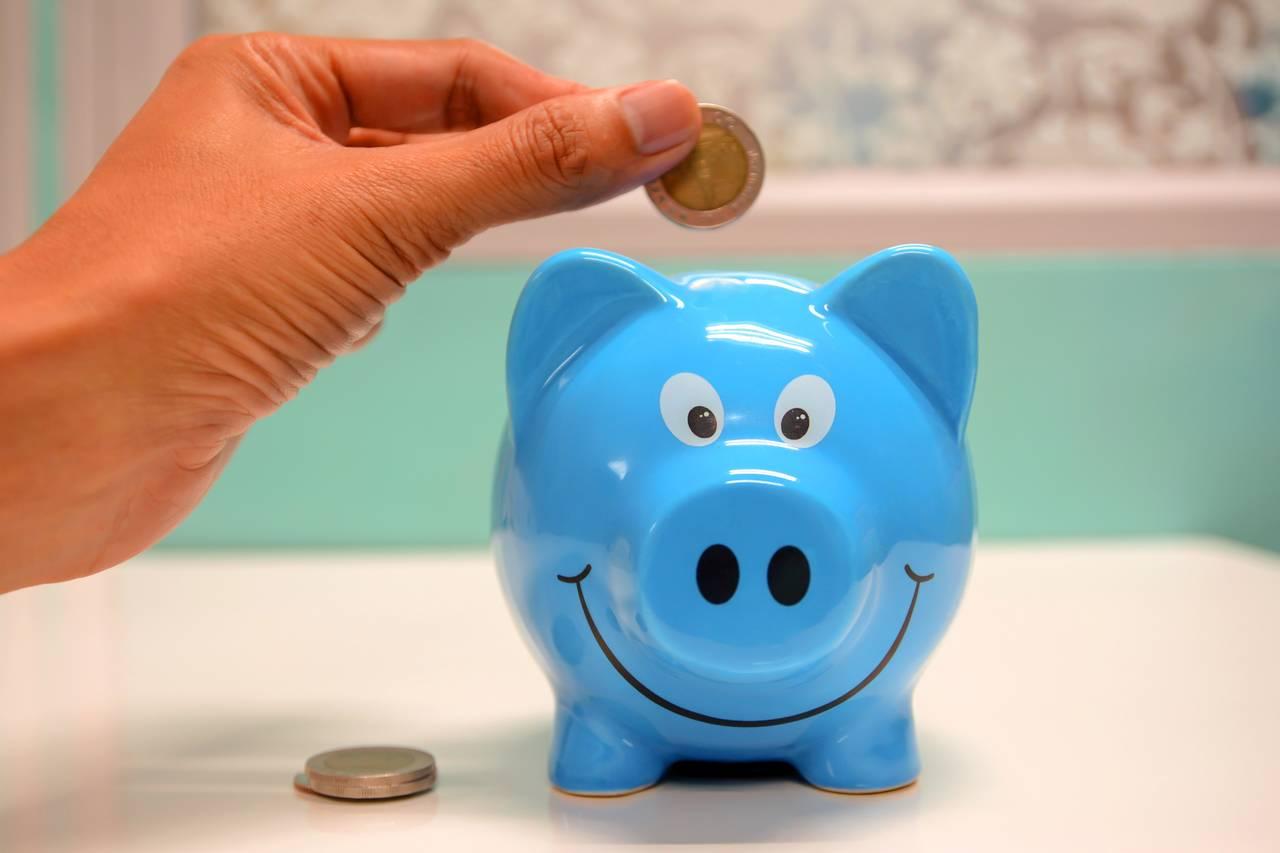 wrzucanie pieniędzy do świnki skarbonki
