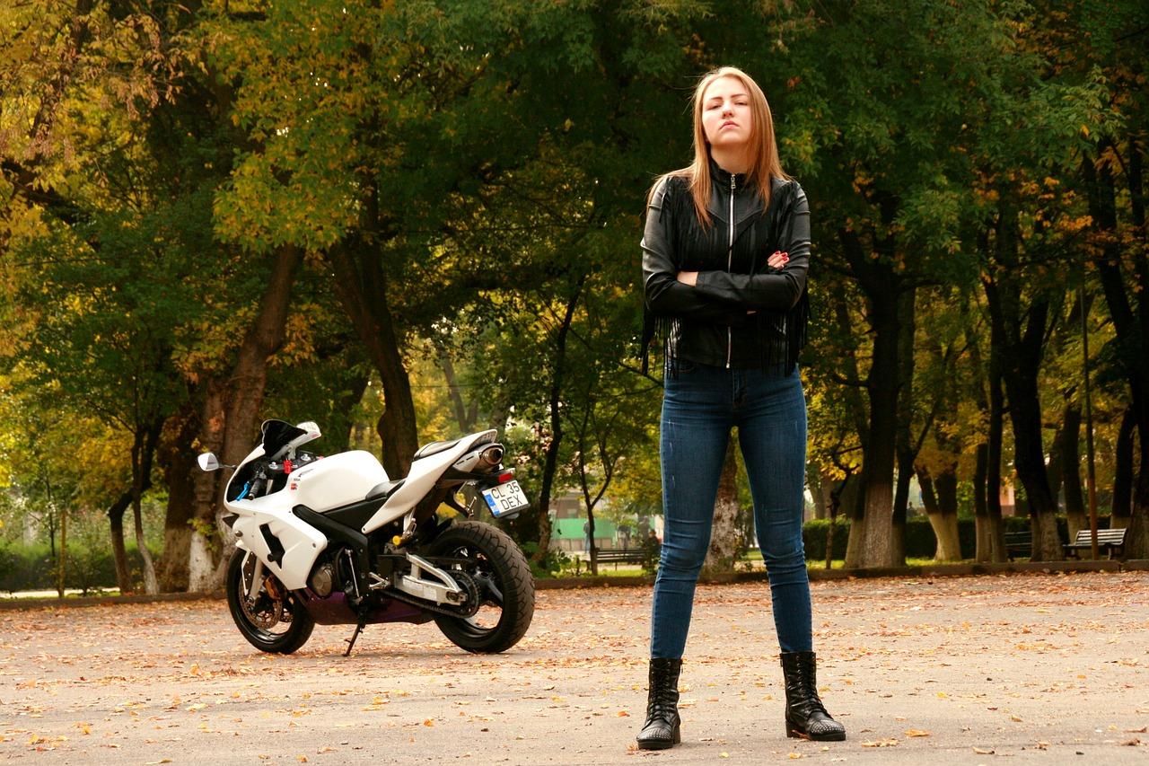 Girl Motorcycle Leather Jacket Ride  - AdinaVoicu / Pixabay