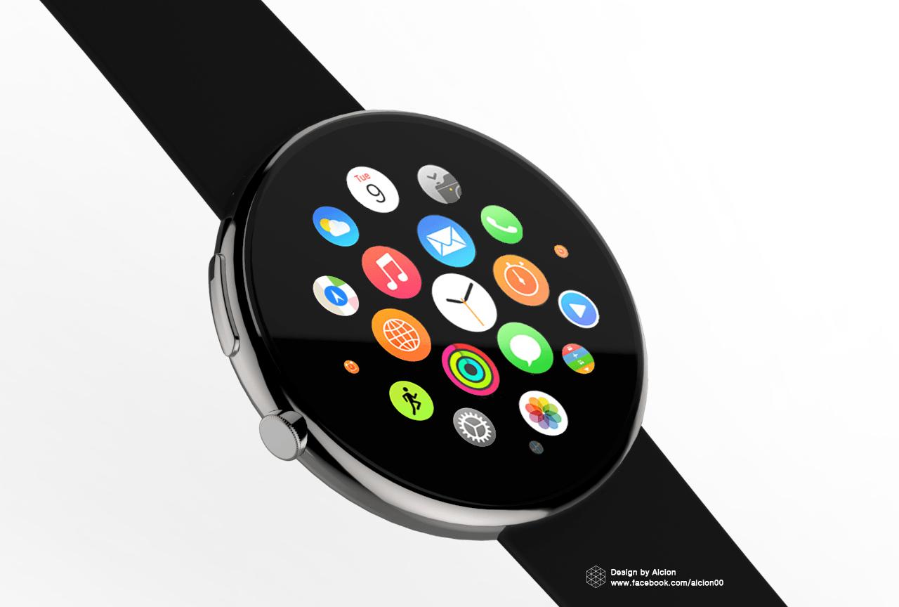 Runde Apple Watch
