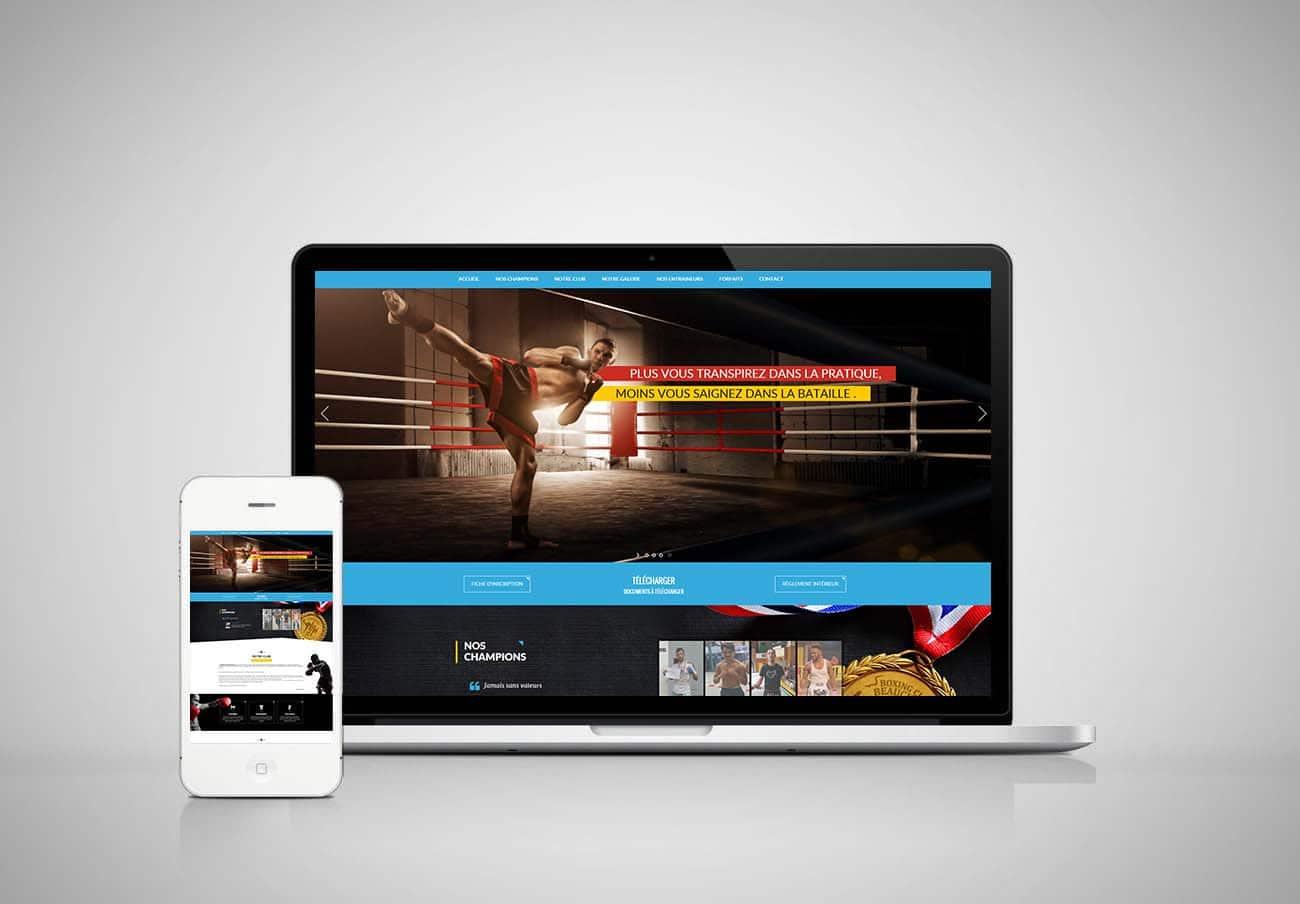 création le site web sport, boxing style
