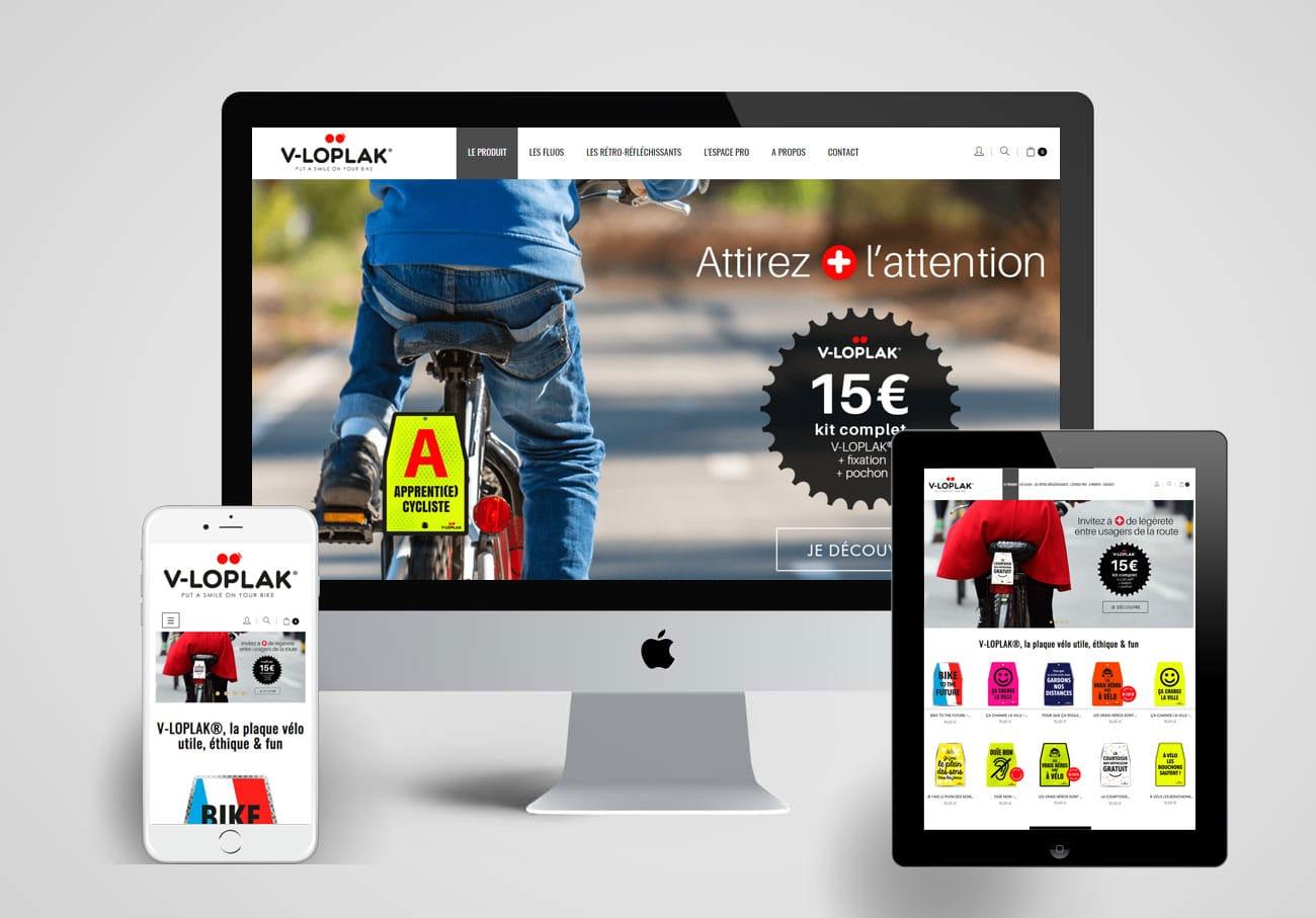Refonte site web vélo, plaque de vélo
