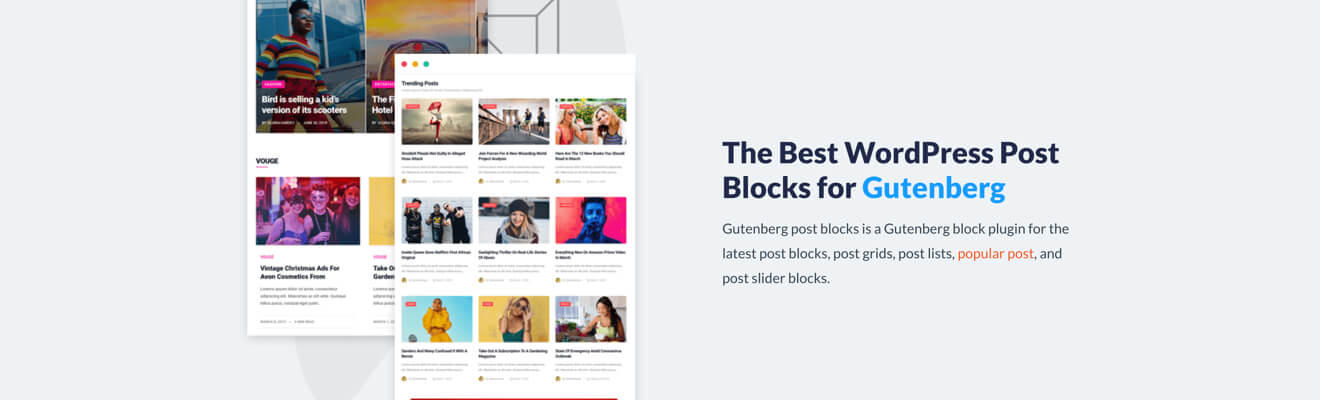 Gutenberg post blocks -50%