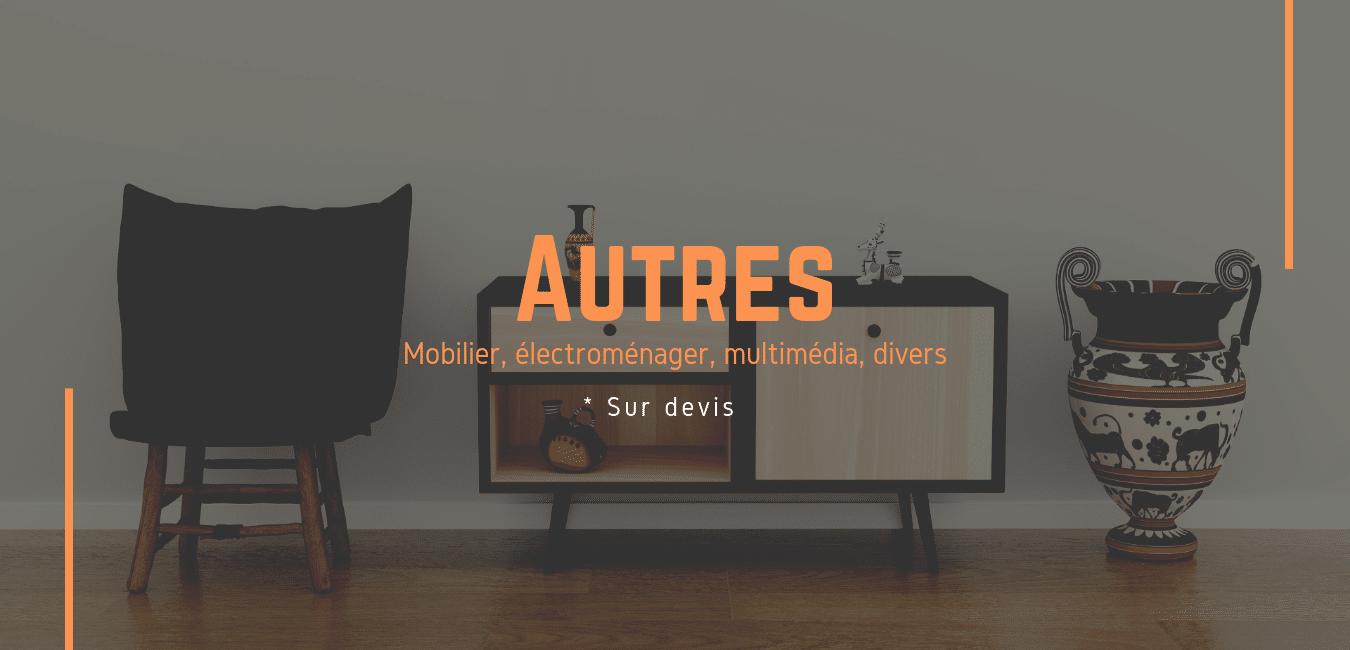 Transport de meubles, d'électroménager, multimédias... entre la France et Londres