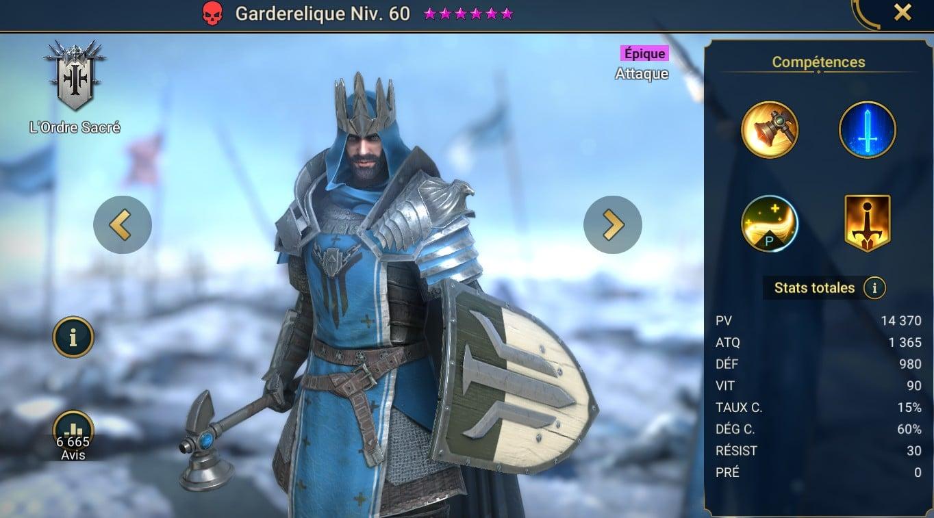 guide pour Garderelique (Relickeeper) maitrises et artefact
