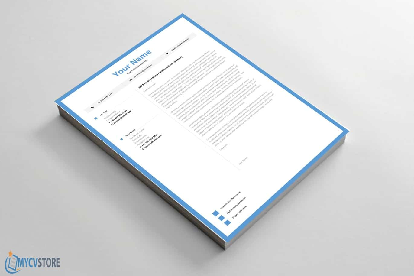 Clean Junior Cover Letter Template