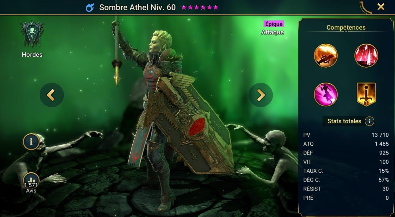 guide artefact et maitrises Sombre Athel (Dark Athel)