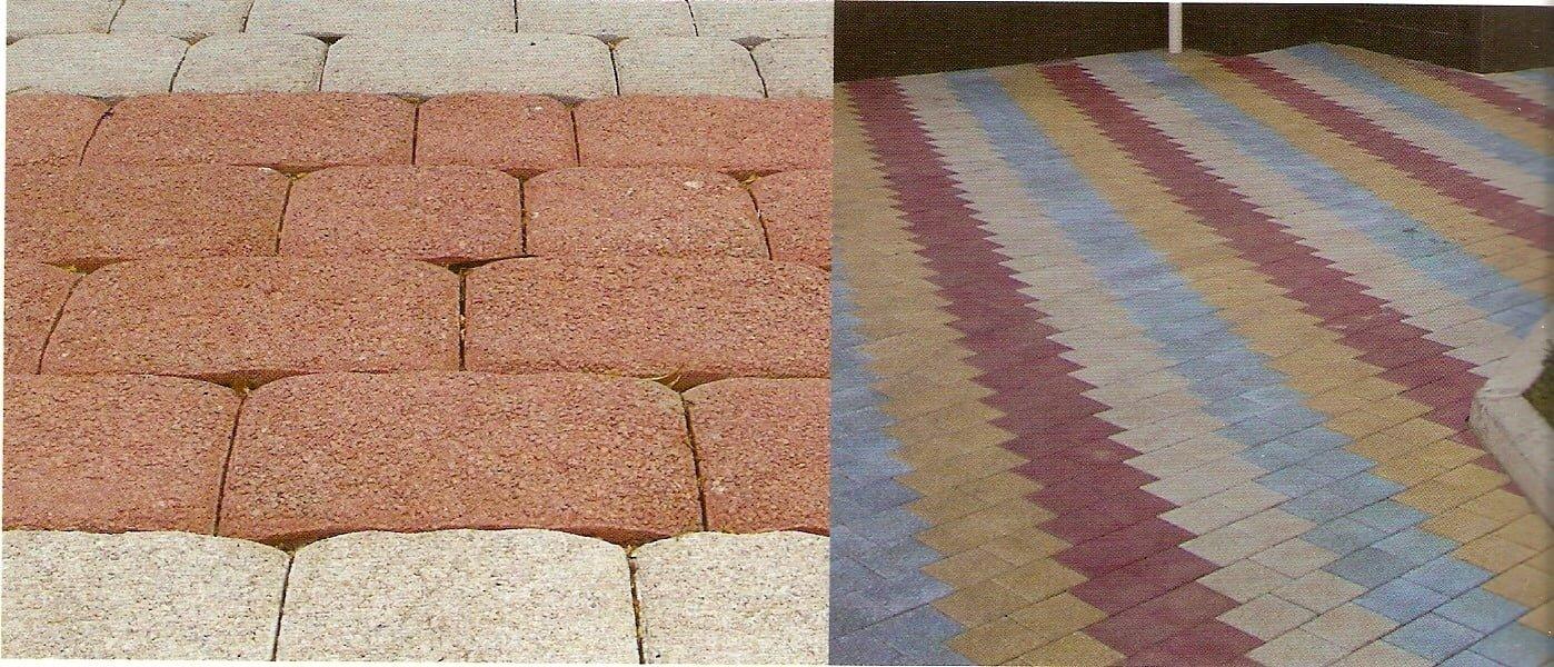 Пример укладки тротуарной плитки