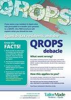 QROPS Debacle Spain Tax Residents Brochure Image