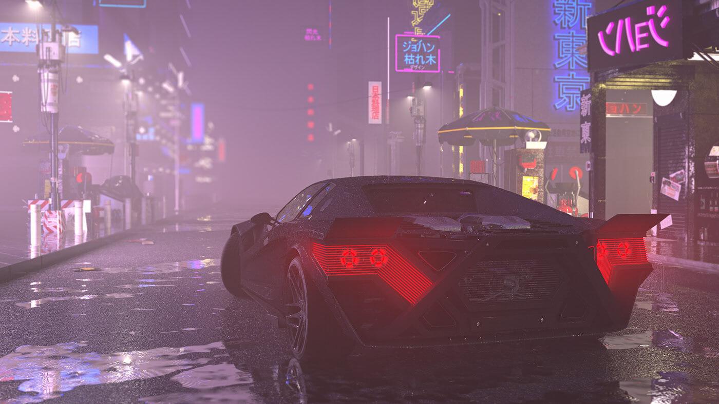 johann DELESTREE – Cyberpunk car concept