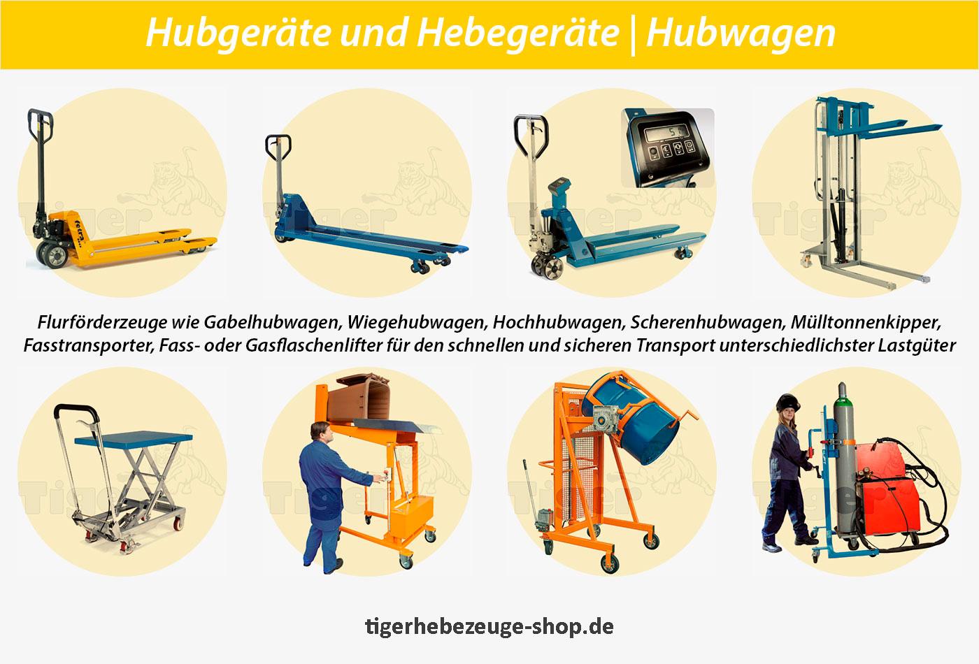 Hebegeräte, Hubwagen