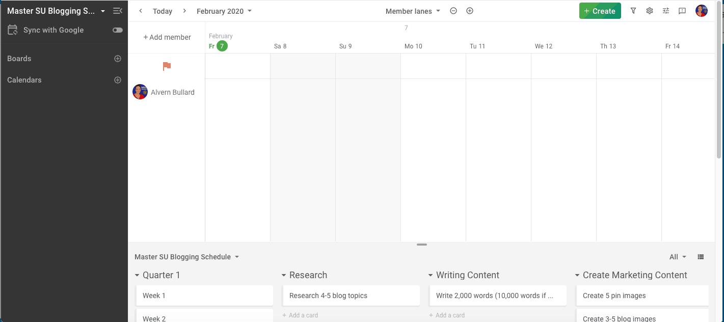 Blogging Schedule Planyway Planner