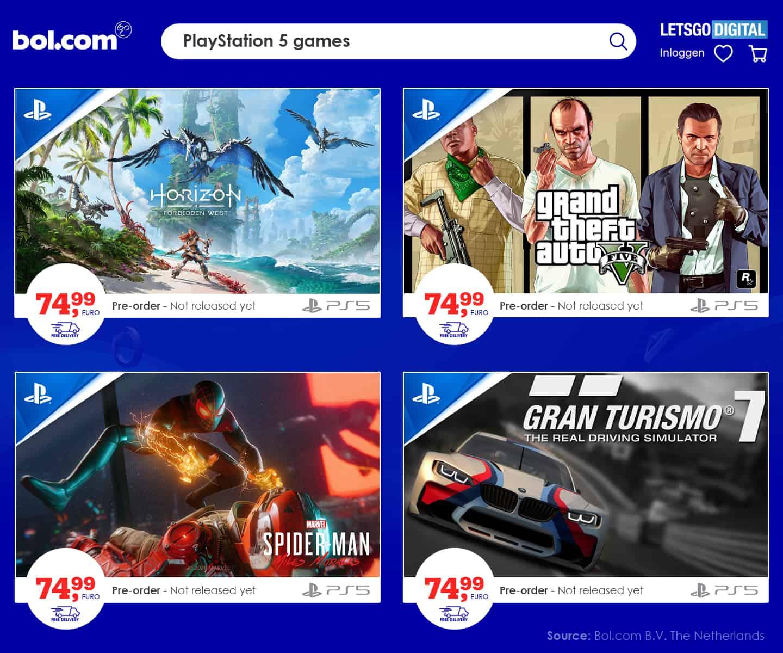 preço jogos ps5