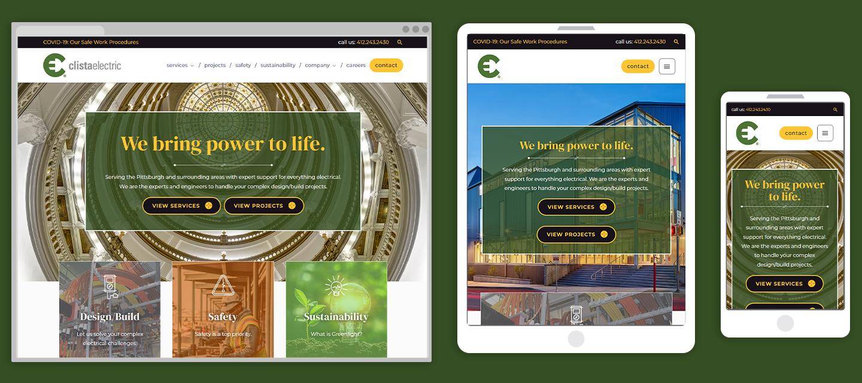Clista Electric Website Responsive Views