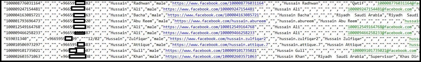 Facebook lista