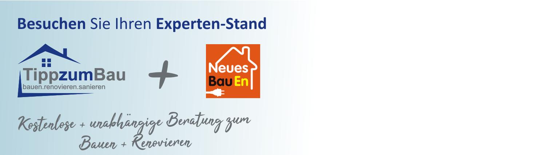 Besuchen Sie auf der Messe Neues BauEn unseren Expertenstand von Tipp zum Bau. Wir sind Deutschlands größtes Bauportal.