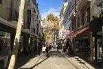 Gibraltar's main street on a sunny day