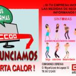 #AlertaCalorAlbacete: una campaña de CCOO para evitar accidentes laborales durante el verano