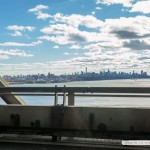 View of Manhattan from the lower deck of the George Washington Bridge