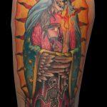 Tatuaje virgen guadalupe santa muerte . Abbyss Zaragoza