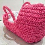 Penye İpten Bebek Taşıma Sepeti Yapılışı