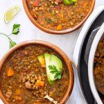 Mexican Lentil Soup in 2 bowls