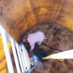 Limpieza de depósitos de agua en complejo mediambiental de la provincia de Córdoba