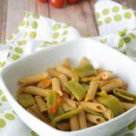 Pasta con taccole e pomodorini bimby