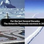 For the last Several Decades; the Antarctic Peninsula warmest in 2020