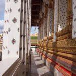 Wat Arun Bangkok beautiful decoration in porcelain