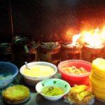 Making Bahn Xeo Vietnamese Pancakes