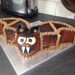Bat birthday cake