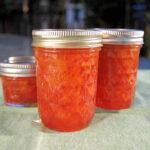 jars of Sour Cherry Preserves