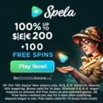 Spela Casino 100 gratis spins and €/£/$1,000 free bonus (codes)