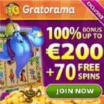 Gratorama.com - 70 free spins and €7 free bonus money