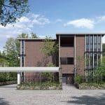 住友林業=デザイン性高い賃貸住宅「フォレストメゾン・カレ」、水平・垂直ライン強調