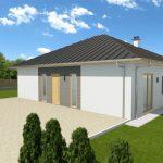 Pritlična montažna hiša bungalov Dulcibella
