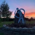 Tambre Golf logo entrada puesta sol