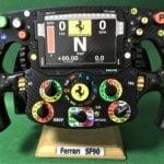 Charles Leclerc_Half SIZE replica SF 90 Ferrari F1 steering wheel_Not Amalgam