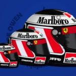 Gerhard Berger Ferrari 412T2 1995 F1 Helmet Sticker - Scuderia GP