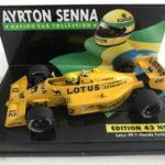 1987 Ayrton Senna Lotus Honda 99T LANG 1:43 Scale Diecast Model Edition 43 No.15