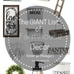The giant list of farmhouse decor | Thrifted & Taylor'd
